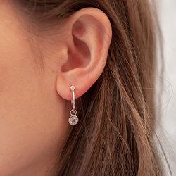 Obrázek è. 8 k produktu: Støíbrné náušnice Hot Diamonds Hoops Topaz DE628