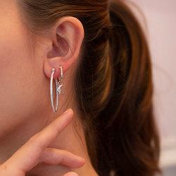Obrázek č. 5 k produktu: Stříbrné náušnice Hot Diamonds Hoops DE629