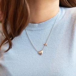 Obrázek č. 3 k produktu: Stříbrný náhrdelník Hot Diamonds Nature Honey Bee Heart RG DN146