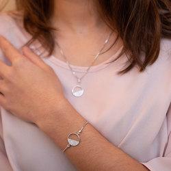 Obrázek č. 2 k produktu: Stříbrný náramek Hot Diamonds Horizon Topaz DL601