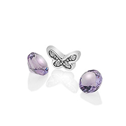 Støíbrný pøívìsek Hot Diamonds Anais amethyst element AC112