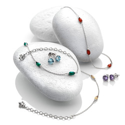 Obrázek è. 6 k produktu: Støíbrné náušnice Hot Diamonds Anais modrý Topaz AE012