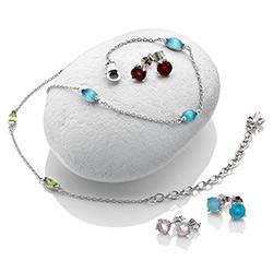 Obrázek è. 4 k produktu: Støíbrné náušnice Hot Diamonds Anais modrý achát AE009