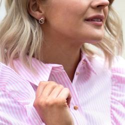 Obrázek č. 5 k produktu: Stříbrné náušnice Hot Diamonds Eternity Interlocking Rose Gold Stud DE309