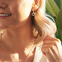 Obrázek č. 5 k produktu: Stříbrné náušnice Hot Diamonds Trio