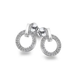 Obrázek è. 2 k produktu: Støíbrné náušnice Hot Diamonds Flora DE580