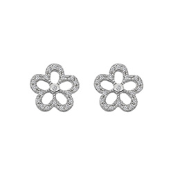 Støíbrné náušnice Hot Diamonds Daisy DE583