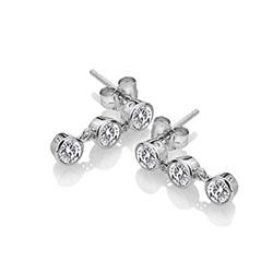 Obrázek è. 2 k produktu: Støíbrné náušnice Hot Diamonds Willow DE585