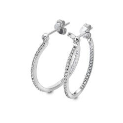 Støíbrné náušnice Hot Diamonds Hoops Topaz DE623