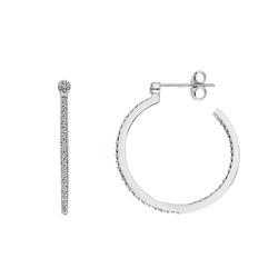 Obrázek č. 1 k produktu: Stříbrné náušnice Hot Diamonds Hoops Topaz DE623