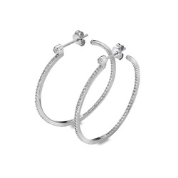Støíbrné náušnice Hot Diamonds Hoops Topaz DE624