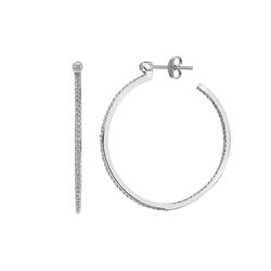 Obrázek č. 3 k produktu: Stříbrné náušnice Hot Diamonds Hoops Topaz DE624