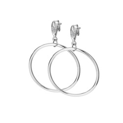 Støíbrné náušnice Hot Diamonds Hoops DE631