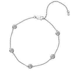 Støíbrný náramek Hot Diamonds Willow DL580
