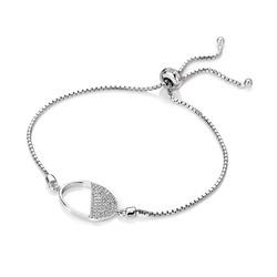 Obrázek č. 1 k produktu: Stříbrný náramek Hot Diamonds Horizon Topaz DL602