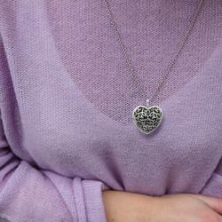 Obrázek č. 13 k produktu: Přívěsek Hot Diamonds Large Heart Filigree Locket DP669