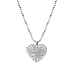 Støíbrný náhrdelník Hot Diamonds Memories Heart Locket DP770