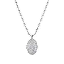 Støíbrný náhrdelník Hot Diamonds Memories Locket DP771