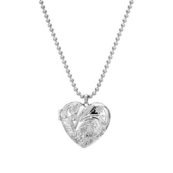 Støíbrný náhrdelník Hot Diamonds Memories Heart Locket DP772