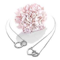 Obrázek è. 8 k produktu: Støíbrný náhrdelník Hot Diamonds Love DN127