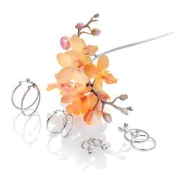 Obrázek č. 1 k produktu: Stříbrné náušnice Hot Diamonds Hoops Topaz DE624