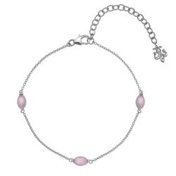 Náramek Hot Diamonds Anais rùžový køemen AB010