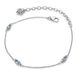 Obrázek č. 1 k produktu: Náramek Hot Diamonds Anais modrý Topaz AB012