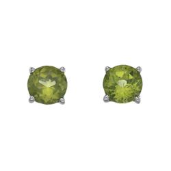 Støíbrné náušnice Hot Diamonds Anais Peridot AE008