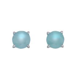 Støíbrné náušnice Hot Diamonds Anais modrý achát AE009
