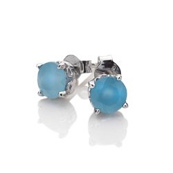 Obrázek è. 2 k produktu: Støíbrné náušnice Hot Diamonds Anais modrý achát AE009
