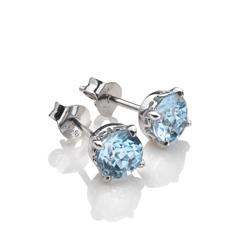 Obrázek è. 2 k produktu: Støíbrné náušnice Hot Diamonds Anais modrý Topaz AE012