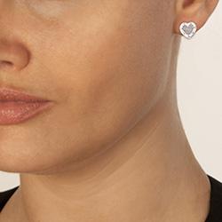 Obrázek è. 4 k produktu: Støíbrné náušnice Hot Diamonds Love DE528