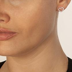 Obrázek č. 3 k produktu: Stříbrné náušnice Hot Diamonds Love DE535