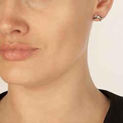Obrázek è. 4 k produktu: Støíbrné náušnice Hot Diamonds Ribbon DE536