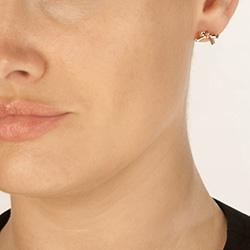 Obrázek è. 4 k produktu: Støíbrné náušnice Hot Diamonds Ribbon DE537