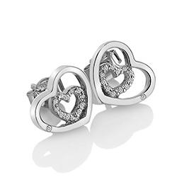 Obrázek è. 2 k produktu: Støíbrné náušnice Hot Diamonds Adorable Encased DE548