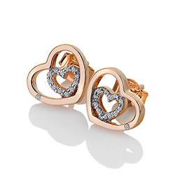 Obrázek è. 2 k produktu: Støíbrné náušnice Hot Diamonds Adorable Encased Rose Gold DE549