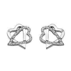 Støíbrné náušnice Hot Diamonds Adorable DE550