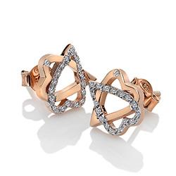 Obrázek è. 2 k produktu: Støíbrné náušnice Hot Diamonds Adorable Rose Gold DE551