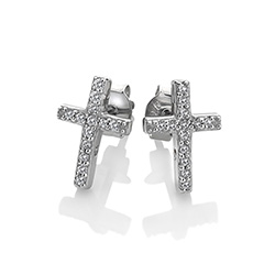 Obrázek è. 2 k produktu: Støíbrné náušnice Hot Diamonds Cross Micro Bliss DE552
