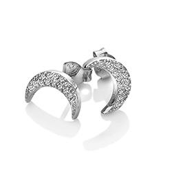 Obrázek è. 2 k produktu: Støíbrné náušnice Hot Diamonds Crescent Micro Bliss DE553