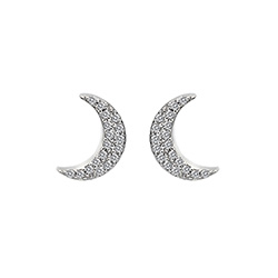 Støíbrné náušnice Hot Diamonds Crescent Micro Bliss DE553