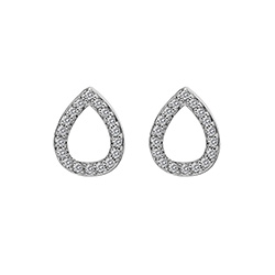 Støíbrné náušnice Hot Diamonds Teardrop Micro Bliss DE555