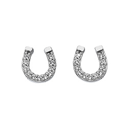 Stříbrné náušnice Hot Diamonds Horseshoe Micro Bliss DE556