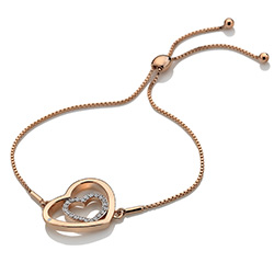 Obrázek è. 2 k produktu: Støíbrný náramek Hot Diamonds Adorable Encased Rose Gold DL575