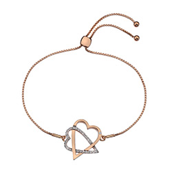 Støíbrný náramek Hot Diamonds Adorable Rose Gold DL577