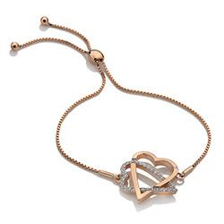 Obrázek è. 2 k produktu: Støíbrný náramek Hot Diamonds Adorable Rose Gold DL577