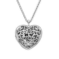 Pøívìsek Hot Diamonds Large Heart Filigree Locket DP669