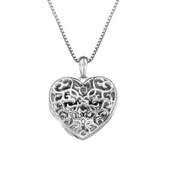 Pøívìsek Hot Diamonds Small Heart Filigree Locket DP671