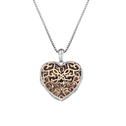 Pøívìsek Hot Diamonds Small Heart Filigree Locket RG DP672